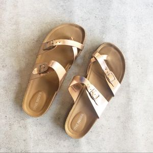 Steve Madden Girls Rose Gold Sandals